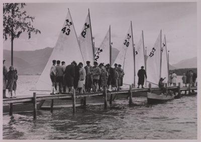 Die Chiemsee-Plätte war bereits in den 50er beliebtes Regattaboot beim Wassersportverein Fraueninsel