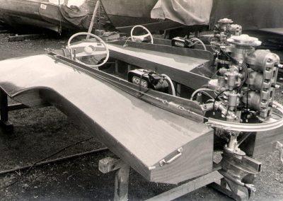 Dreipunkt-Rennboote für Rhodesien 1955 (jetzt Simbabwe)