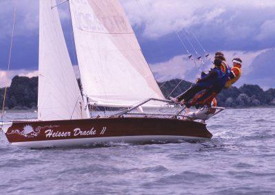 """""""Heisser Drache 2"""" - kleine Libera Yacht mit 7,50 m Länge"""