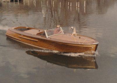 Mahagoni-Motorboot 80 PS 1952