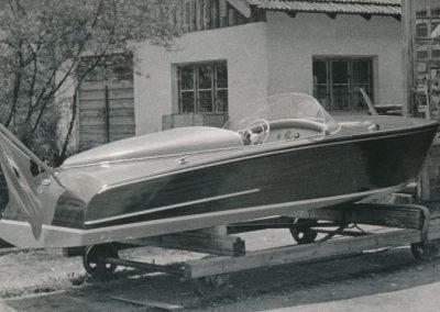 Motorboot mit Porsche 356-Motor 1957