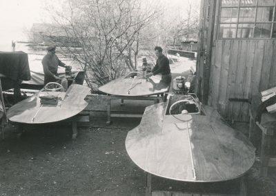 Dreipunkt-Rennboote 1955