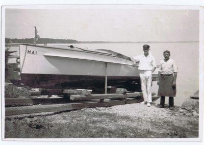 """Motorboot """"HAI"""" 30er Jahre"""