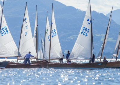 """Traditionelle Plättenregatta """"Lindchen Cup"""" an der Fraueninsel"""